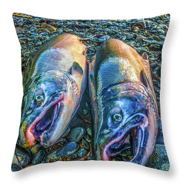Beached Coho Throw Pillow