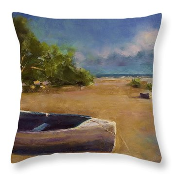 Beached Throw Pillow by David Patterson