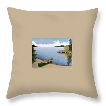 Beached In Ontario Throw Pillow by Kenneth M  Kirsch