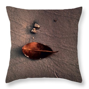 Beached Leaf Throw Pillow