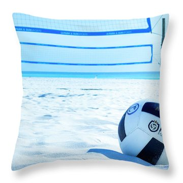 Volleyball On The Beach Throw Pillow