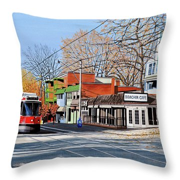 Beacher Cafe Throw Pillow