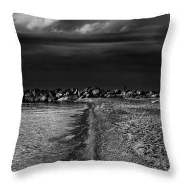 Beaches Park Toronto Canada Breakwall No 1 Throw Pillow