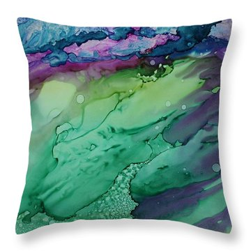 Beachfroth Throw Pillow