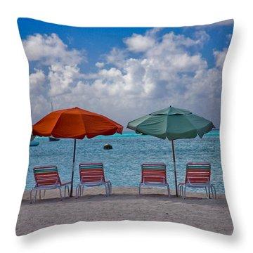 Beachie Keen Throw Pillow