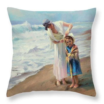 Beachside Diversions Throw Pillow