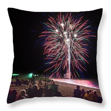 Throw Pillow featuring the photograph Beachside Spectacular by Bill Pevlor