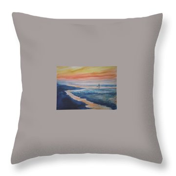 Beachwalker Throw Pillow
