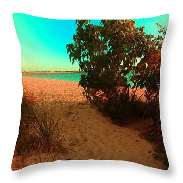 Beachy Cool Throw Pillow