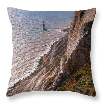 Beachy Head Lighthouse Throw Pillow