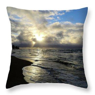 Beachy Morning Throw Pillow