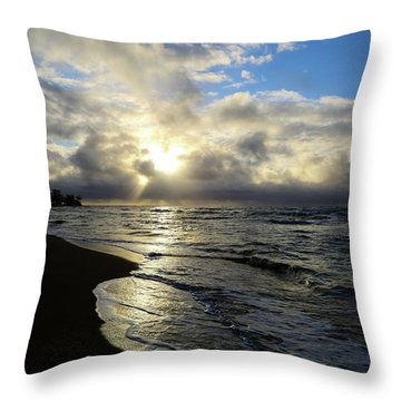 Beachy Morning Throw Pillow