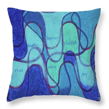 Beachy Two Throw Pillow