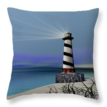 Beacon Throw Pillow by Corey Ford