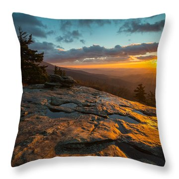 Beacon Heights Blue Ridge Park Way Throw Pillow