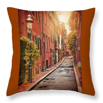 Throw Pillow featuring the photograph Beacon Hill Area Of Boston  by Carol Japp