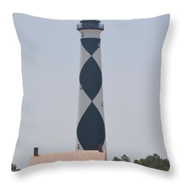 Beacon On Cape Lookout Throw Pillow