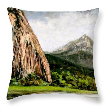 Beacon Rock Washington Throw Pillow