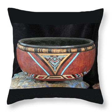 Bead Effect Throw Pillow by Barbara Prestridge