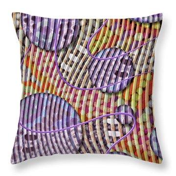 Bead Spumps Throw Pillow