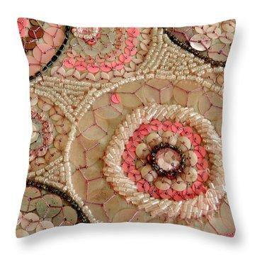 Beaded Design Throw Pillow