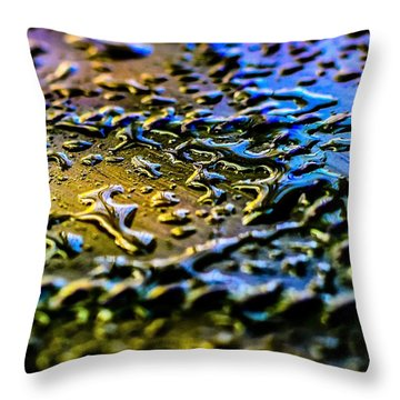 Beaded Water Texture Throw Pillow