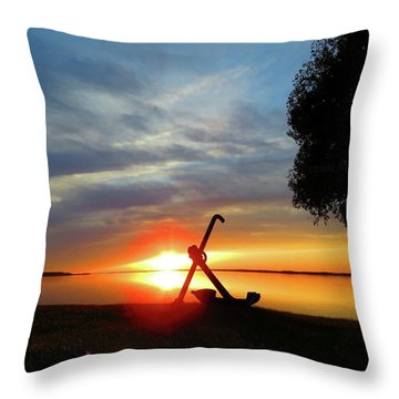 Beadles Point Sunset Throw Pillow