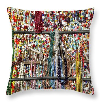 Beads In A Window Throw Pillow