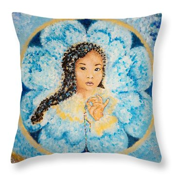 Flying Lamb Productions.        Beads Of Life Throw Pillow