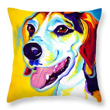 Beagle - Lou Throw Pillow