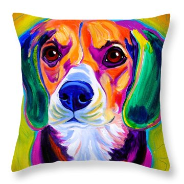 Beagle - Molly Throw Pillow