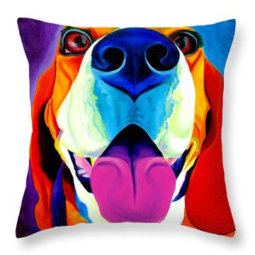 Beagle - Lollipop Throw Pillow
