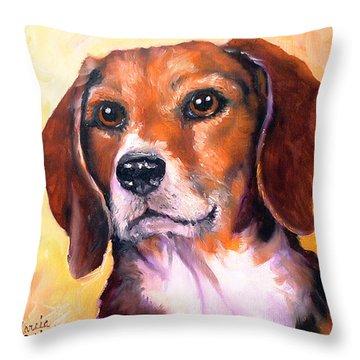 Beagle Billy Throw Pillow