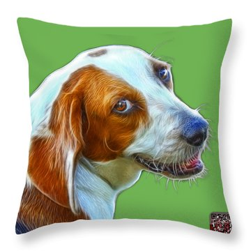 Beagle Dog Art- 6896 -wb Throw Pillow by James Ahn