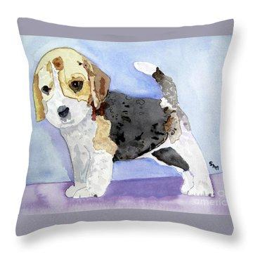 Beagle Pup Throw Pillow