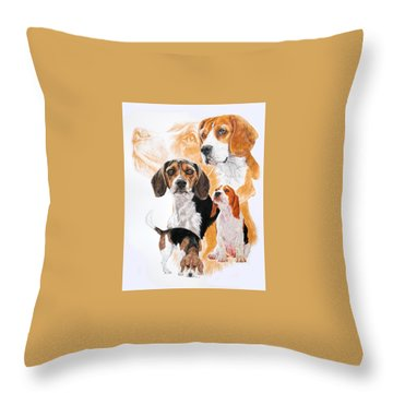 Beagle W/ghost Throw Pillow