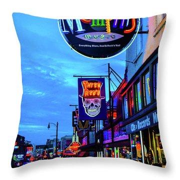 Beale Str. Blues  Throw Pillow