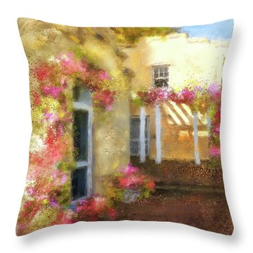 Throw Pillow featuring the digital art Beallair In Bloom by Lois Bryan