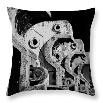 Throw Pillow featuring the photograph Beam Bender - Bw by Werner Padarin
