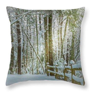 Beam On A Wonderland Throw Pillow
