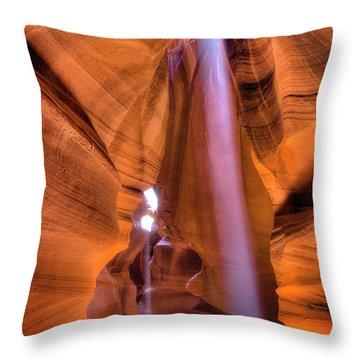 Beam Splitter Throw Pillow