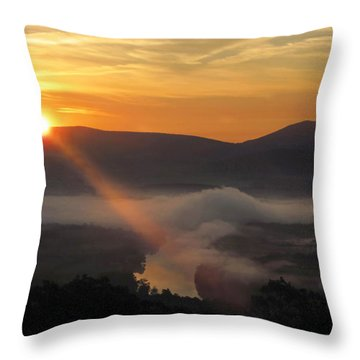 Beaming Shenandoah Throw Pillow by Lara Ellis