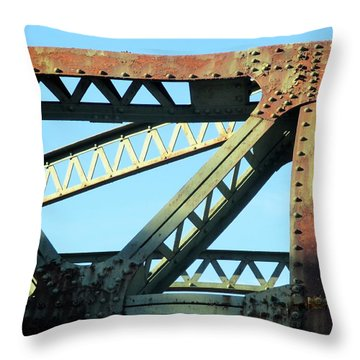 Beams And Bolts Throw Pillow
