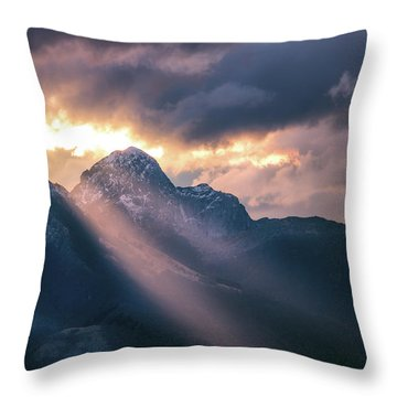 Beams Of Fire Throw Pillow