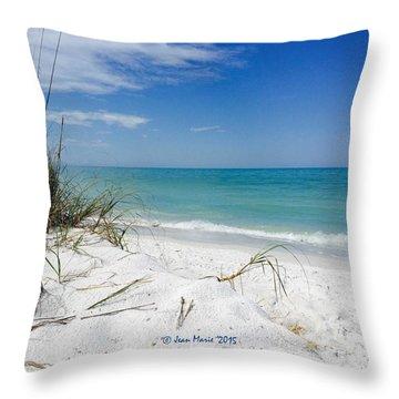 Throw Pillow featuring the photograph Bean Point, Anna Maria Island by Jean Marie Maggi