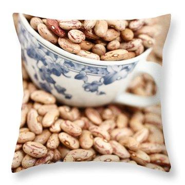 Beans In A Cup Throw Pillow by Gaspar Avila