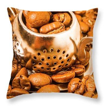 Beans The Little Teapot Throw Pillow