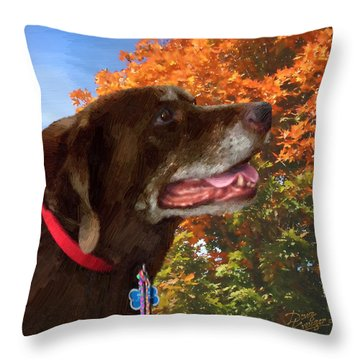 Throw Pillow featuring the painting Bear - Bear by Doug Kreuger