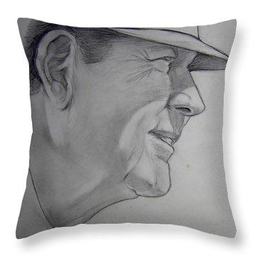 Bear Bryant Throw Pillow by Nigel Wynter