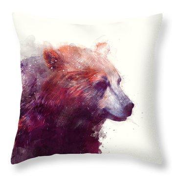 Bear // Calm Throw Pillow by Amy Hamilton